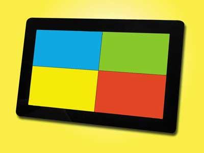 Bild: 4-Farbfilter zur Unterteilung der Leuchtfläche in 4 gleichmäßig Felder unterschiedlicher Farbe.