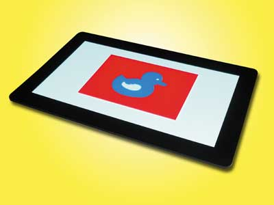 Bild: Fluoreszierende Ente auf LiteScout-Pro