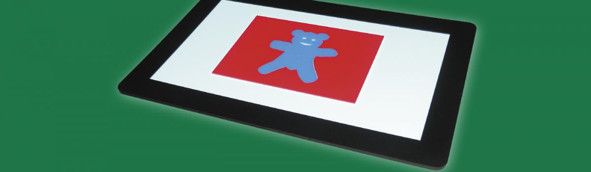 Fluoreszierender Bär mit Maske auf LiteScout Pro